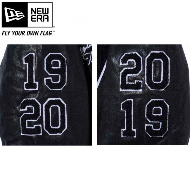 ニューエラ スタジアムジャケット フルパッチ ブラック サガラワッペン ホワイトの画像