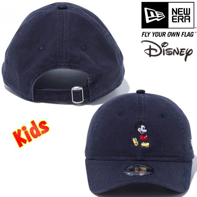 ディズニー×ニューエラ 920キッズキャップ クローズストラップ スタンディング ミッキーマウス ミニ ネイビー オフィシャルカラー スノーホワイトの画像
