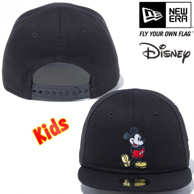 ディズニー×ニューエラ マイファースト 950 スナップバック キッズ キャップ スタンディング ミッキーマウス ブラック オフィシャルカラー スノーホワイトの画像
