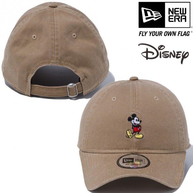 ディズニー×ニューエラ 930キャップ クローズストラップ スタンディング ミッキーマウス ミニ カーキ オフィシャルカラー スノーホワイトの画像