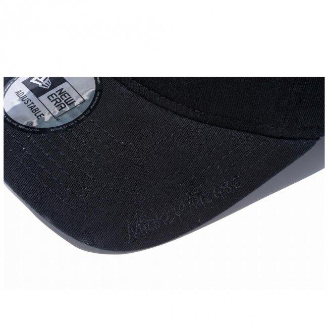 ディズニー×ニューエラ 930キャップ クローズストラップ スタンディング ミッキーマウス ミニ ブラック オフィシャルカラー スノーホワイトの画像