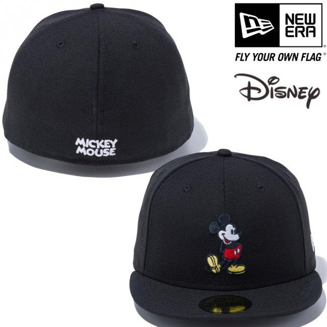 ディズニー×ニューエラ 5950キャップ マルチロゴ スタンディング ミッキーマウス ブラック オフィシャルカラー スノーホワイトの画像