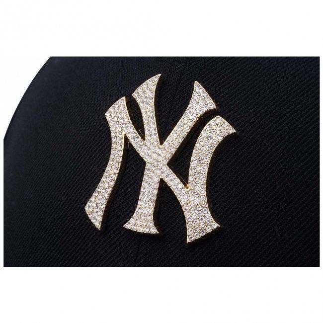 ニューエラ 950 スナップバック キャップ ラインストーン ニューヨークヤンキース ブラック ゴールドの画像