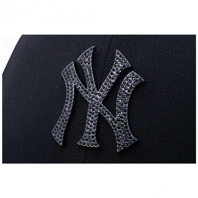 ニューエラ 5950キャップ スペシャルロゴ ラインストーン ニューヨークヤンキース ブラック ブラックの画像