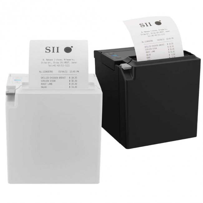 セイコーインスツル 据え置き型感熱式プリンター RP-F10シリーズ RP-F10-K27J1-4 Bluetooth接続 MFi認定 ブラックの画像