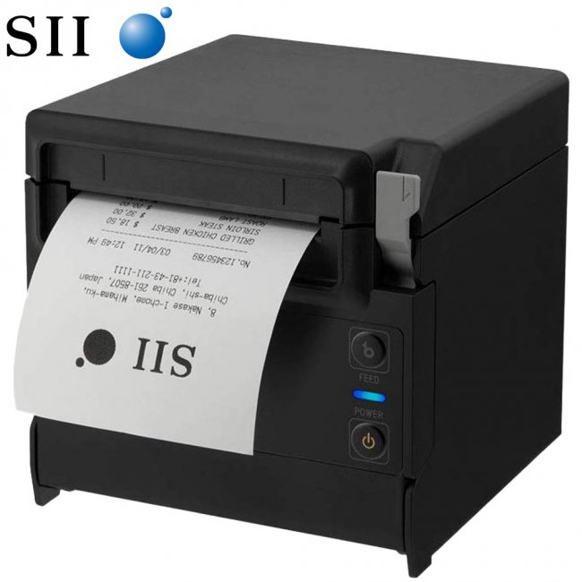 セイコーインスツル 据え置き型感熱式プリンター RP-F10シリーズ RP-F10-K27J1-3 セット(ACアダプター、電源ケーブル付き) Ethernet接続 ブラックの画像