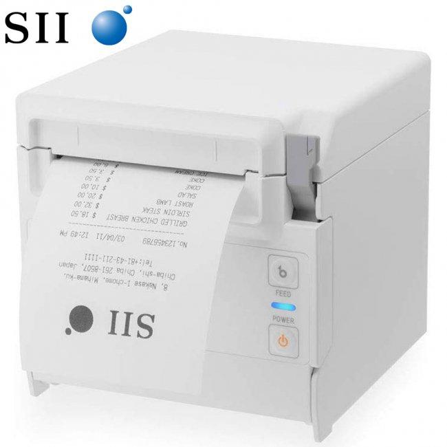 セイコーインスツル 据え置き型感熱式プリンター RP-F10シリーズ RP-F10-W27J1-4 セット(ACアダプター、電源ケーブル付き) Bluetooth接続 MFi認定 ホワイトの画像