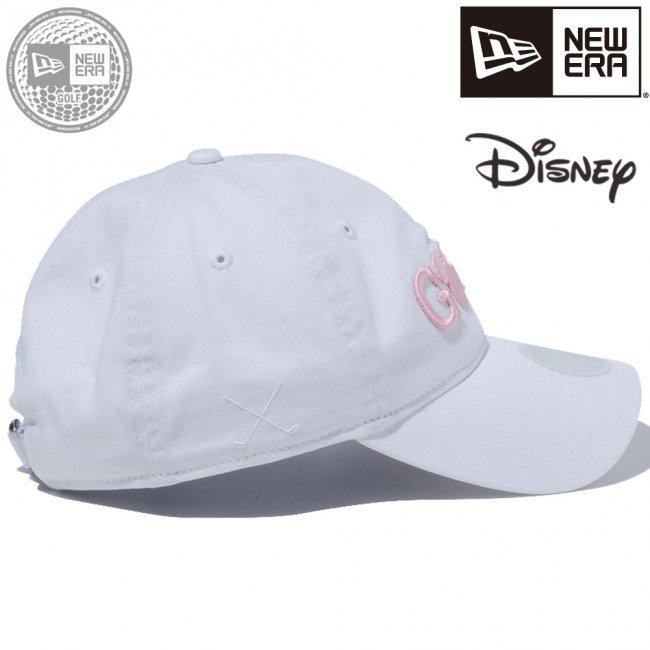 ディズニー×ニューエラ 930キャップ クローズストラップ ゴルフ ミッキーマウス ホワイト ピンクの画像