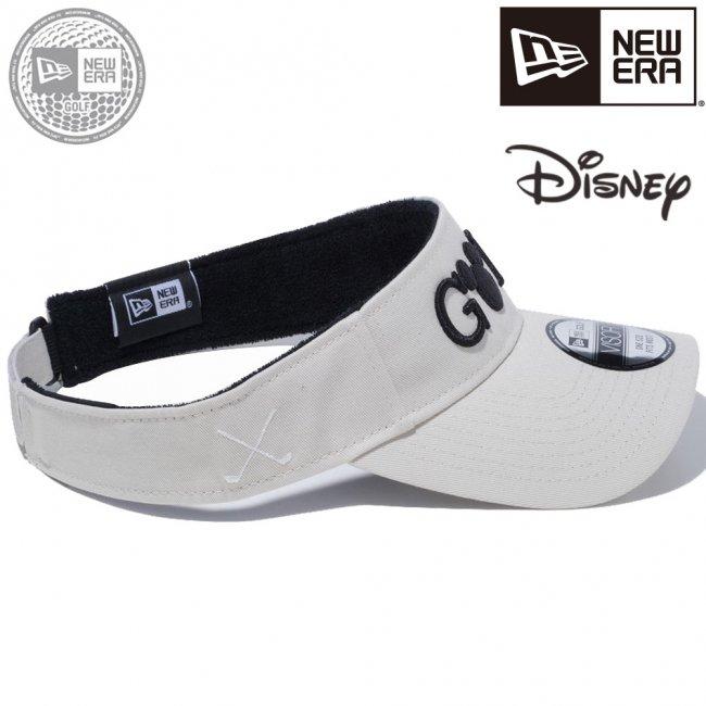 ディズニー×ニューエラ サンバイザー ゴルフ ミッキーマウス ストーン ブラックの画像