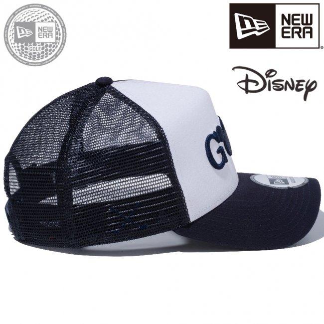 ディズニー×ニューエラ 940 スナップバック キャップ エーフレームトラッカー ゴルフ ミッキーマウス ホワイト ネイビーメッシュ ネイビー ミッドナイトネイビー スノーホワイトの画像