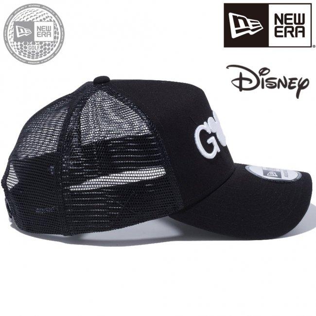 ディズニー×ニューエラ 940 スナップバック キャップ エーフレームトラッカー ゴルフ ミッキーマウス ブラック ブラックメッシュ スノーホワイト ブラックの画像