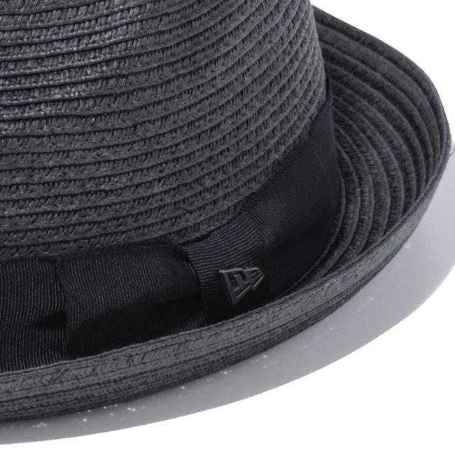 ニューエラ ハット ザ フェドーラ グログランバンド ブラックペーパーロープ グログランバンド シルバーメタルの画像