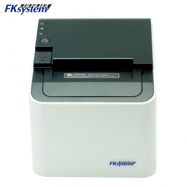 エフケイシステム サーマルレシートプリンター PRP-250II USB RS232C Ethernet接続 ブラック ホワイトの画像