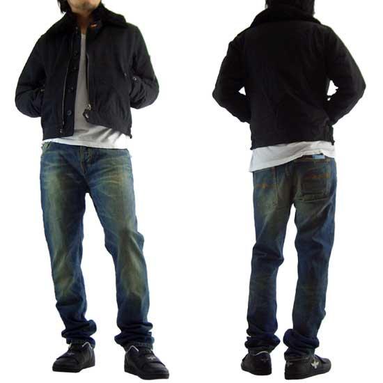ヌーディー ジーンズ スバンテ パトロール ジャケット ブラックの画像