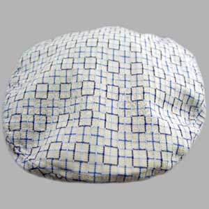 EK ハンチング GEOMETRIC TOP-STITCH COTTONS BLUESの画像