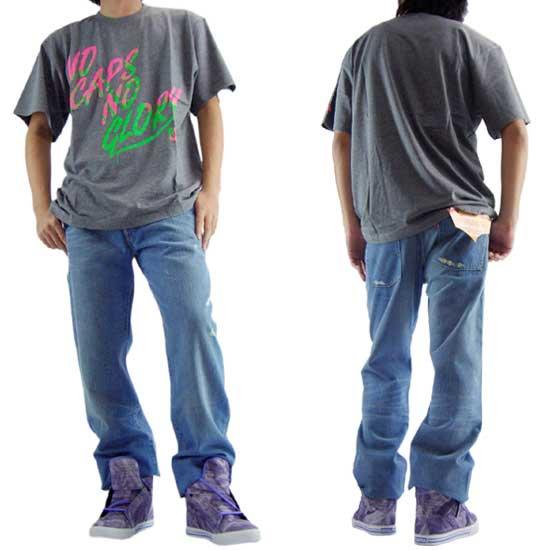 【30%OFF】【SALE】 ニューエラ S/S Tシャツ ノー キャップス ノー グローリー グレーマール/ニューベリーの画像