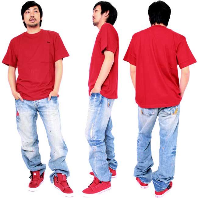 【SALE】 ニューエラ S/S Tシャツ インスピ コア ニューエラ フラッグ ティー スカーレット/ブラックの画像