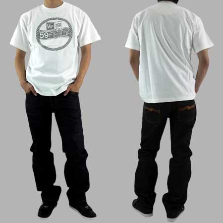 【30%OFF】【SALE】 ニューエラ S/S Tシャツ ラインステッカー ホワイト/ブラックの画像
