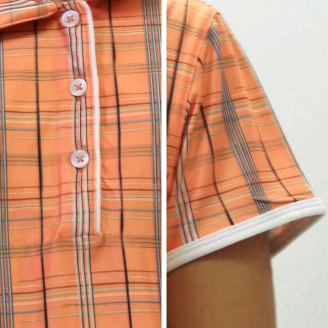 【SALE】アディダス S/S ポロシャツ CLIMACOOL プラッド プリント ポロ ファズ/ネイビーの画像
