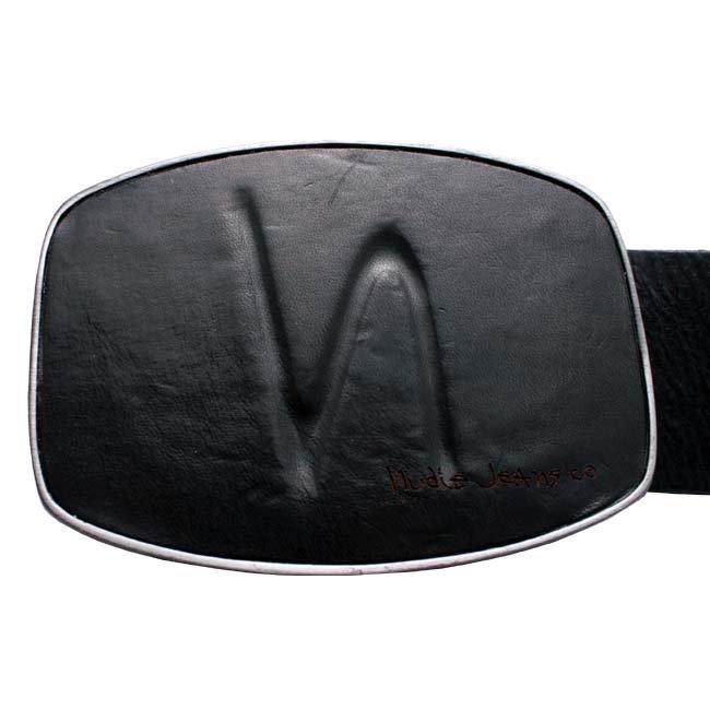 ヌーディー ジーンズ 32161-7036 ベルト レザー ブラックの画像