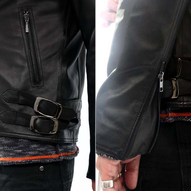 ヴィル ディスポワール レザー ジャケット シングル 11804の画像