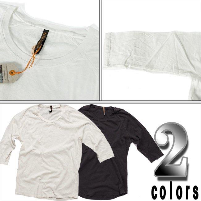 ヌーディージーンズ Q/S Tシャツ クォータースリーブティー オフホワイトの画像