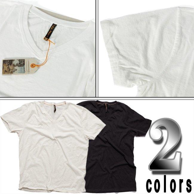 ヌーディージーンズ S/S VネックTシャツ オフホワイトの画像