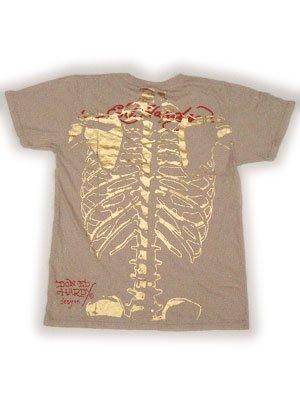 【SALE】エドハーディー メンズ スケルトン S/S Tシャツ スカルドラゴン ナチュラルの画像