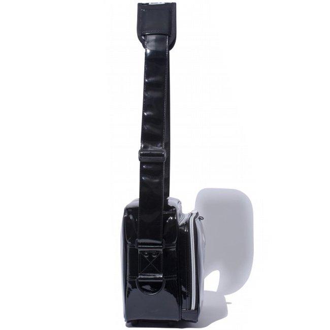 ニューエラ バッグ エナメルバッグ スモール ブラック ホワイトの画像