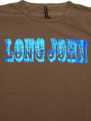 ヌーディージーンズ フリッツ ロング ジョン S/S Tシャツ ブラウンの画像