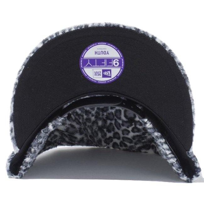 ニューエラ 950 スナップバック キッズキャップ シンセティックファー ニューヨーク ヤンキース レオパード レオパード ブラック ブラックの画像