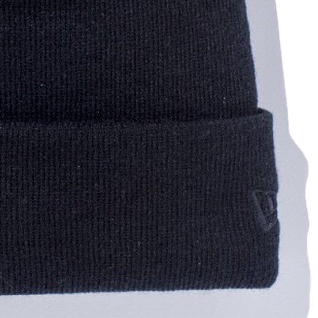 モンスターズインク×ニューエラ ニットキャップ ベーシックカフニット モンスターズインクロゴ ブラック ブラック ホワイト マリンブルー ブラックの画像