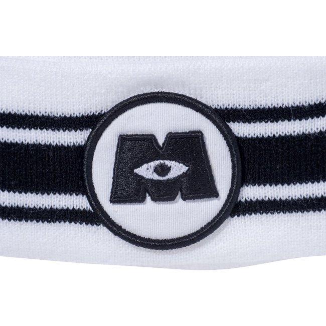 モンスターズインク×ニューエラ ニットキャップ ポンポンニット モンスターズインクロゴ ホワイト ブラック ブラック ホワイト スノーホワイトの画像