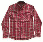 セール対象外 Original John BEAGLE COLLAR SHIRTS -BURGUNDY CHECK