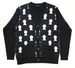 Original John  KEY HOLE CARDIGAN  BLACK
