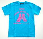 NEVERTRUST  THESE BOOTS T-SHIRT  TURQUOISE