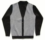RELCO LONDON    CHECKER CARDIGAN  BLACK×WHITE