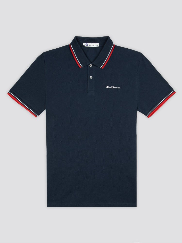 Ben Sherman Signature Polo Short Sleeve Blue 0059310