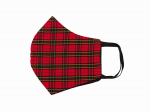 RELCO LONDON  TARTAN CHECK MASK  RED
