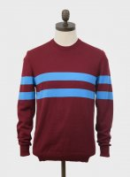 """<img class='new_mark_img1' src='https://img.shop-pro.jp/img/new/icons8.gif' style='border:none;display:inline;margin:0px;padding:0px;width:auto;' />ART GALLERY  """"SCENE"""" CREW NECK KNIT  WINE"""