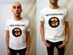 NEVERTRUST   NEW ENGLAND T-SHIRT  WHITE