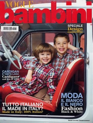 VOGUE BAMBINI 洋雑誌(年間契約)<img class='new_mark_img2' src='//img.shop-pro.jp/img/new/icons29.gif' style='border:none;display:inline;margin:0px;padding:0px;width:auto;' />