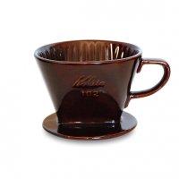 カリタ 陶器製ドリッパー 102(2〜4人用)/茶