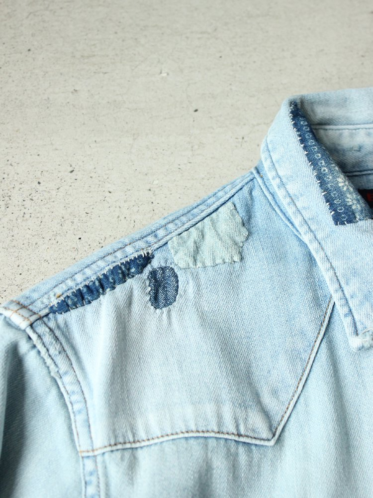 BLUE BLUE   ブルーブルー ハーベストリメイクウエスタンシャツ #BLEACH