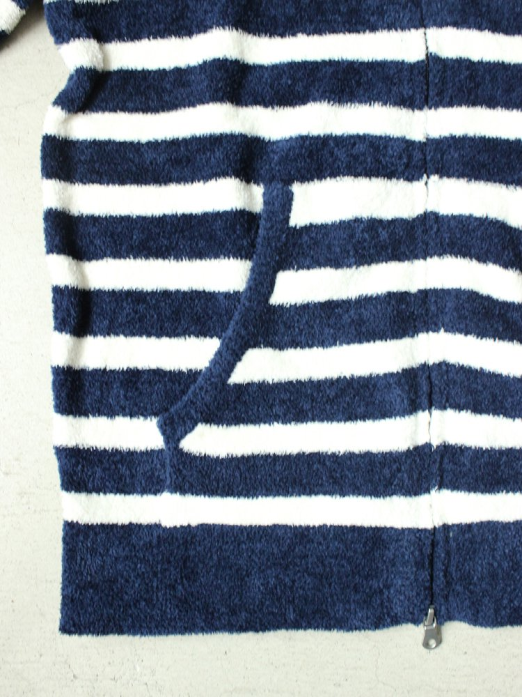 BLUE BLUE | ブルーブルー RUSSELL BLUEBLUE PILE KNIT ZIP PARKA #A