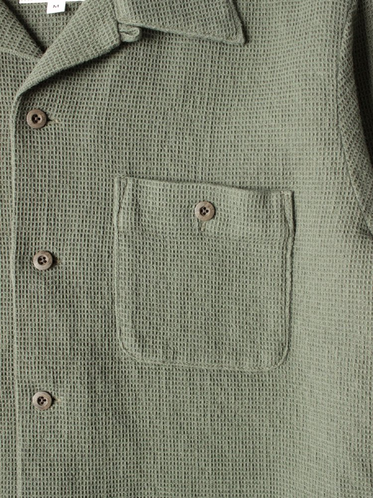 Nasngwam. | ナスングワム CARAPACE SHIRTS #OLIVE