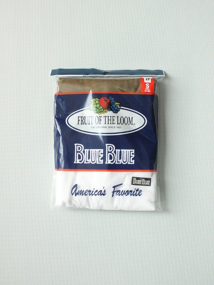 セール FRUIT OF THE LOOM BLUEBLUE CN 2PACK POCKET T NO.2 #KHAKI
