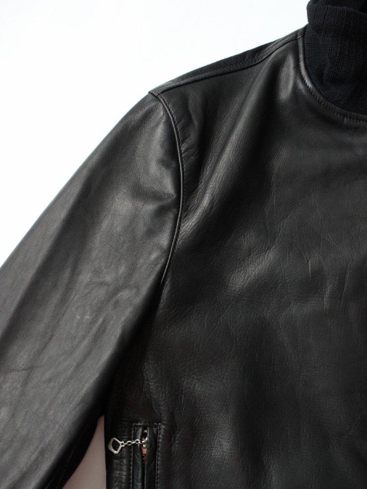 Varde77 | バルデセブンティセブン A-1 TYPE DAMAGE HORSE LEATHER JACKET #BLACK