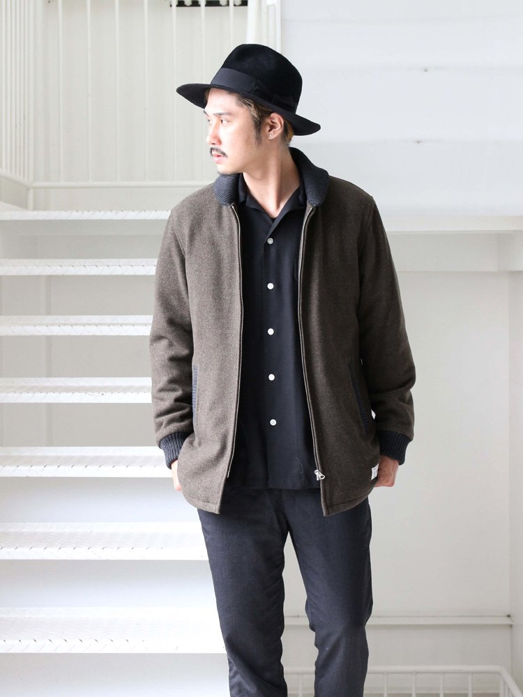 WACKO MARIA | ワコマリア 刀 OPEN COLLAR SHIRT #BLACK