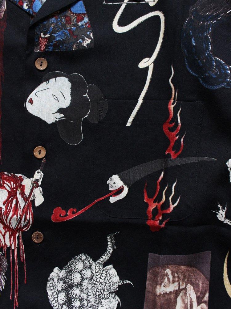 WACKO MARIA | ワコマリア 天国東京お化け図 HAWAIIAN SHIRT #BLACK